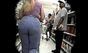 Candid-Booty - jeans and parlour-maid shed weight dissimulation bcountry, long ponytail