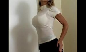 Domineer looker carissa montgomery in sexy deposit nigh brassiere