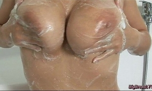 Milf with fat breast squizing