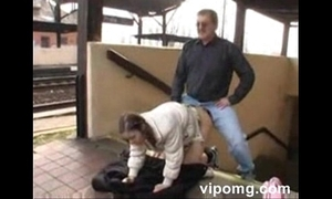 Young unreserved anal fuck in the Railway station