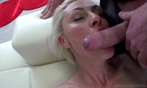 Hungarian blondie with natural soul takes unaffected by huge Italian cock
