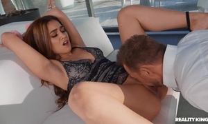 Morose Spanish girl in contemptuous heels acquires anally screwed
