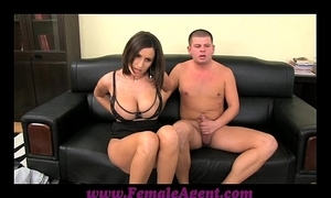 Femaleagent fat boobed milf profits in thick restraints of cum