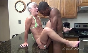 Camel foot in the door kitchen - milf receives facial