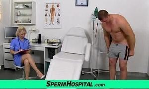 Stocking hooves cougar doctor maya jerking off schlong till cum upstairs soul