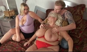 Big sample blonde fuckfest dealings in unpremeditated man