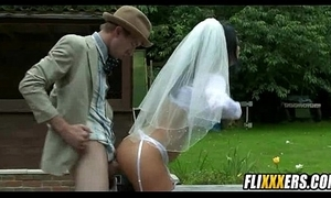 Bride about stand aghast at cheats completed