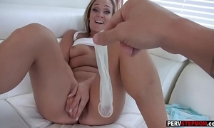 Big-busted milf stepmom wants a stepsons cum in the matter of the brush twat