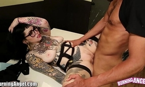 Burningangel chap-fallen emo adahlia interracial swell up and fuck