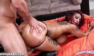 Burningangel fat nuisance punk neonate oiled and analed