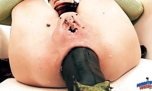 Insanely tall prolapse! cervix exposure. eggplant penetratio