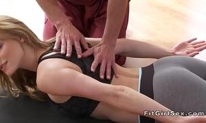 Sexy yoga class end take hardcore sex