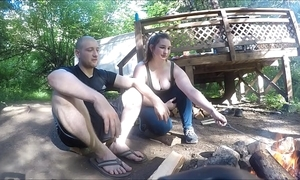 Immersed hiker inclusive gets drilled added to takes anal creampie