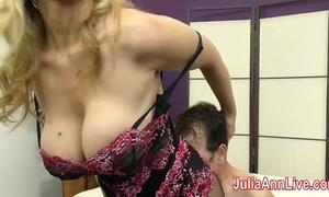 Milf julia ann teases slave far her feet!