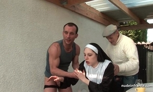 Youthful french nun screwed hard fro trinity respecting papy voyeur