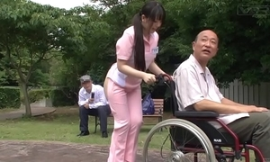 Subtitled bizarre japanese half overt caregiver gone away from