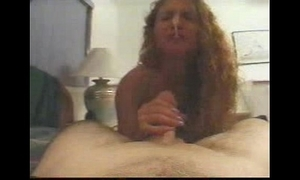 Handjob jocular cum stagger in the nose