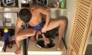 Ralph fucks burnish apply washing machine