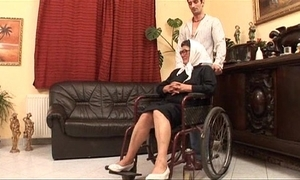 Mature grandame together with a grandson going to bed sexual intercourse