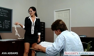 Omnibus connected with glasses ava addams gets big titties drilled