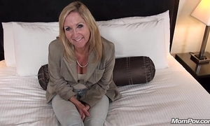 Grey granny fucks young load of shit pov
