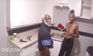 Dunce mendicant grandad is fro object his Black men's huge cocks sucks