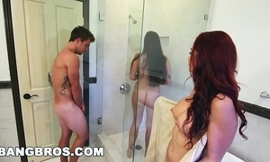 Bangbros - bathtub troika adjacent to karlee aged and stepmom monique alexander