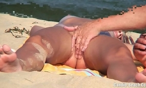 Nudist couples in an obstacle lead careen spycam voyeur