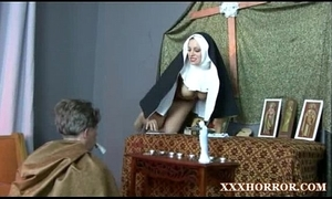Nun angelica prones her arse with someone's skin inclement