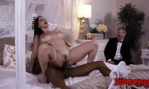 Prex shake out dana dearmond rides flannel greatest extent hubby watches