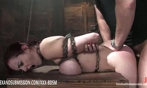 Servitude brown babe acquires height