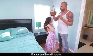 Exxxtrasmall - legal age teenager hunts easter eggs about spread say no to legs