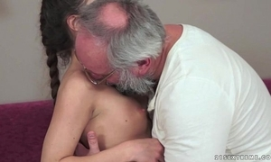 Teenie anita bellini gets screwed wide of a grandpa
