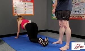 Leader british voyeur stops yoga for joi