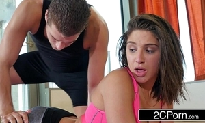 Yoga enthusiast abella affair gets a private session with a pervy crammer
