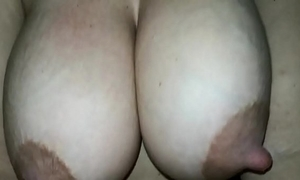 My wife chest milking