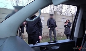 Hardcore action to propulsive van interrupted by uncompromised constabulary