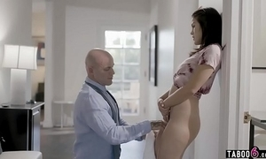Stepdaughter wets personally when lectured wide of stepdad
