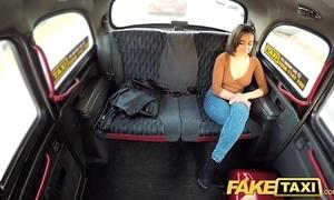 Fake taxi-cub squirting rumpus hawt pussy taxi-cub orgasms